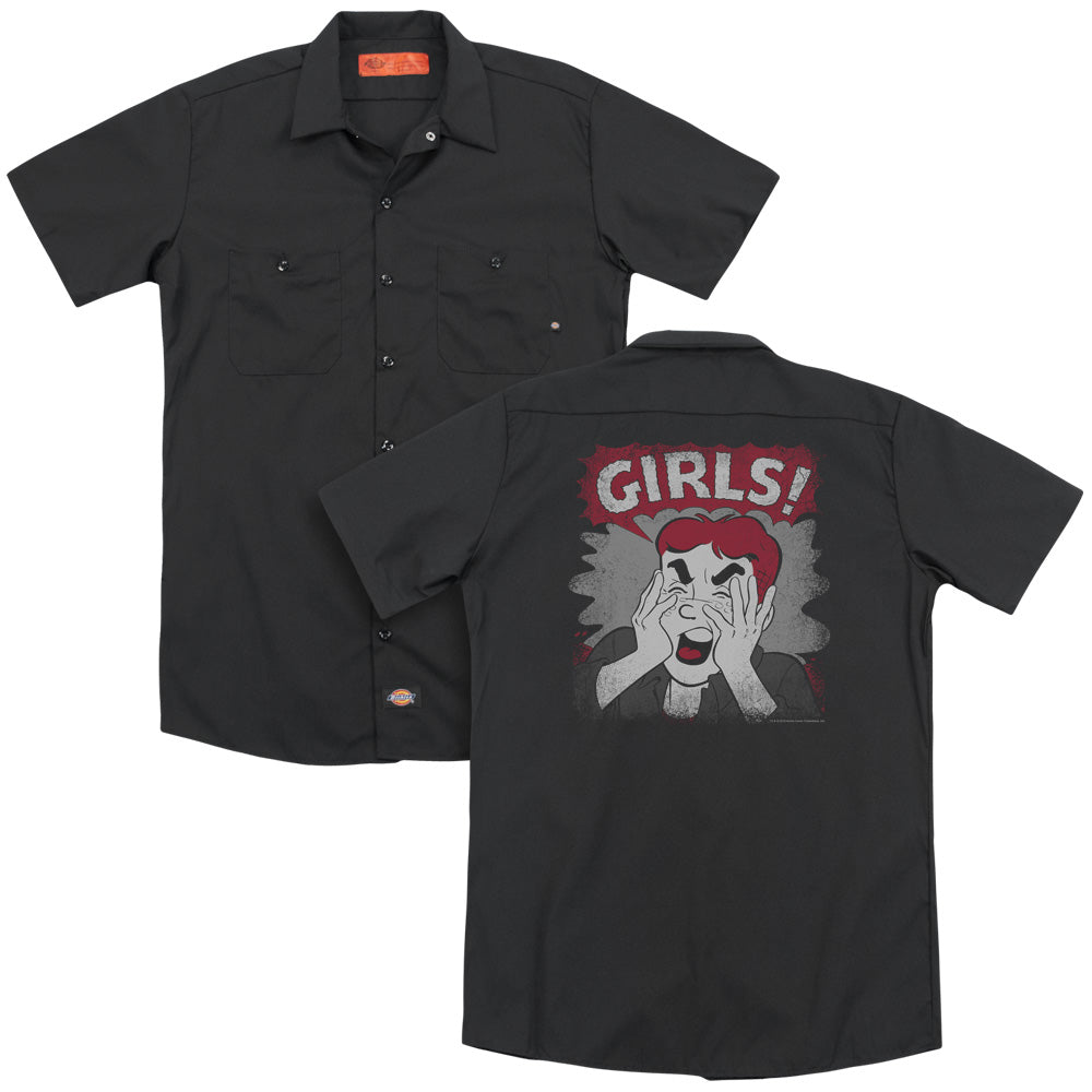 Archie Comics - Girls! Adult Work Shirt