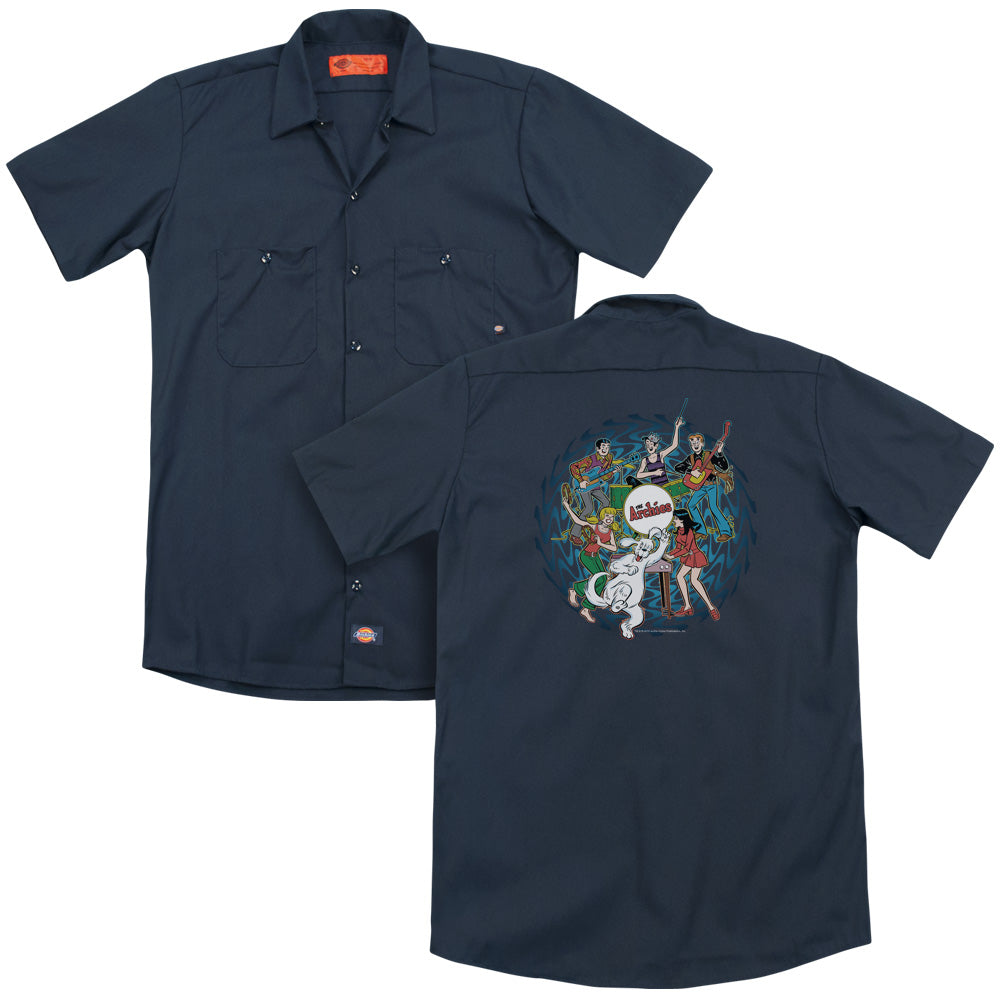 Archie Comics - Psychadelic Archies Adult Work Shirt