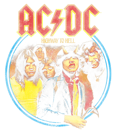 AC/DC Highway To Hell Men's Heather T-Shirt
