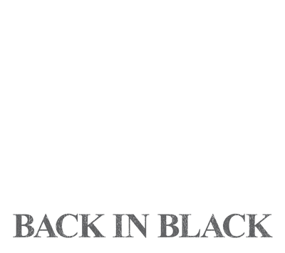 AC/DC Back In Black Juniors V-Neck T-Shirt