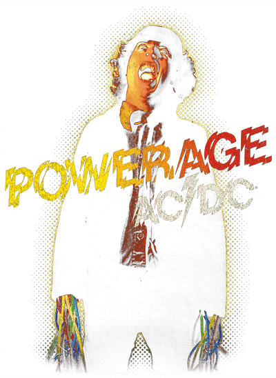 AC/DC Powerage Juniors V-Neck T-Shirt