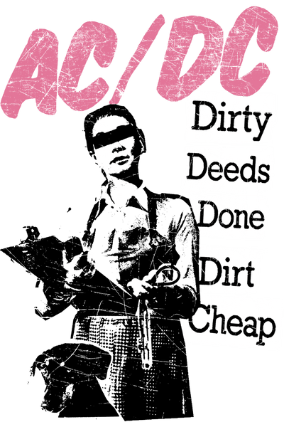 AC/DC Dirty Deeds Men's Slim Fit T-Shirt
