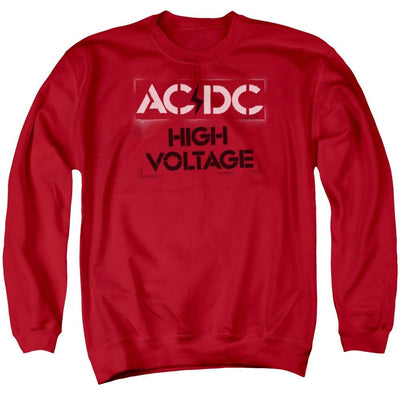 AC/DC High Voltage Stencil Men's Crewneck Sweatshirt