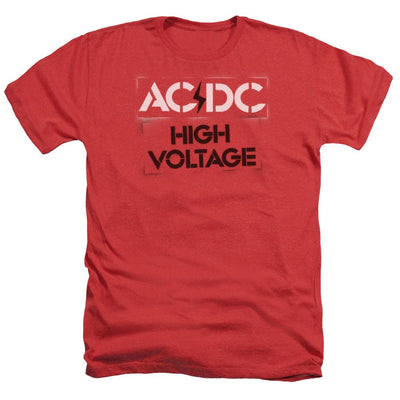 AC/DC High Voltage Stencil Men's Heather T-Shirt