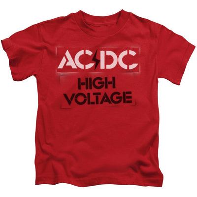AC/DC High Voltage Stencil Kid's T-Shirt (Ages 4-7)