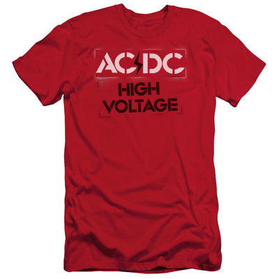 AC/DC High Voltage Stencil Men's Slim Fit T-Shirt