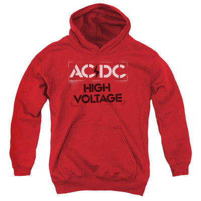 AC/DC High Voltage Stencil Youth Hoodie (Ages 8-12)