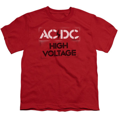 AC/DC High Voltage Stencil Youth T-Shirt (Ages 8-12)
