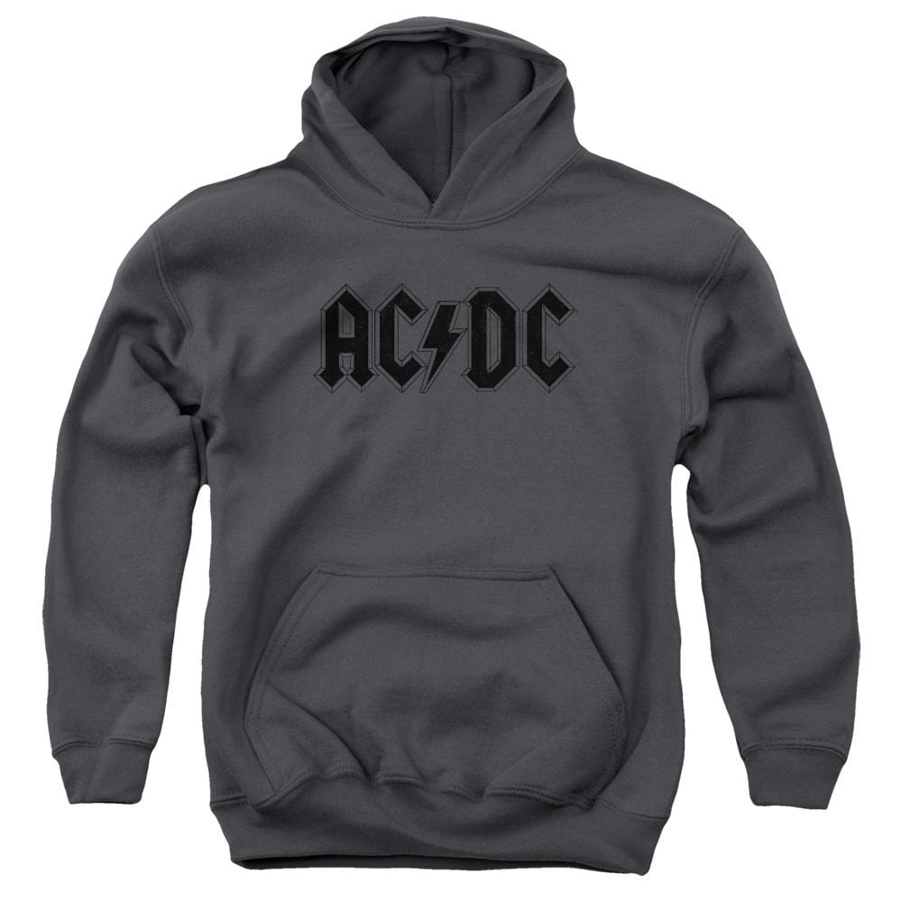 Acdc Worn Logo Youth Hoodie (Ages 8-12)