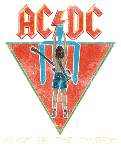 AC/DC Flick Of The Switch Men's Heather T-Shirt