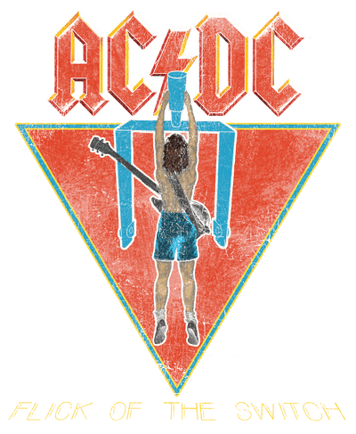 AC/DC Flick Of The Switch Juniors V-Neck T-Shirt