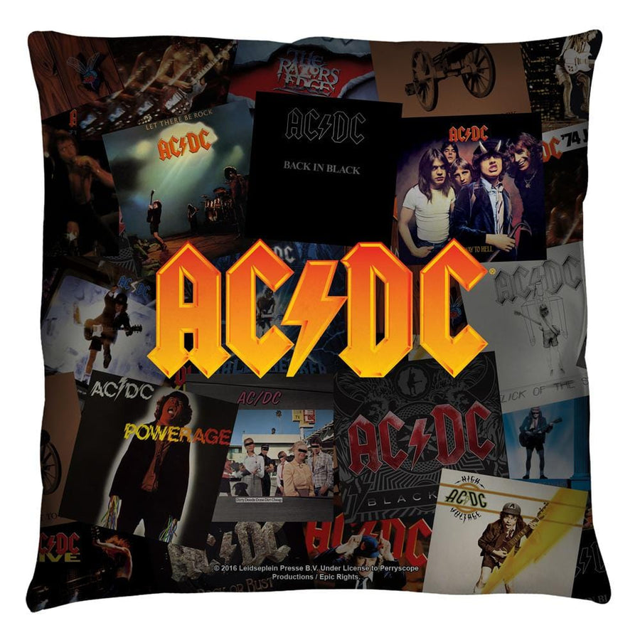 Acdc - Albums Throw Pillow