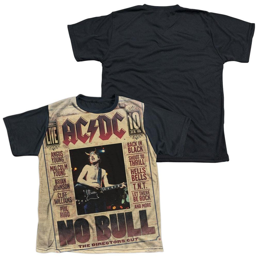 AC/DC No Bull Youth Black Back T-Shirt (Ages 8-12)