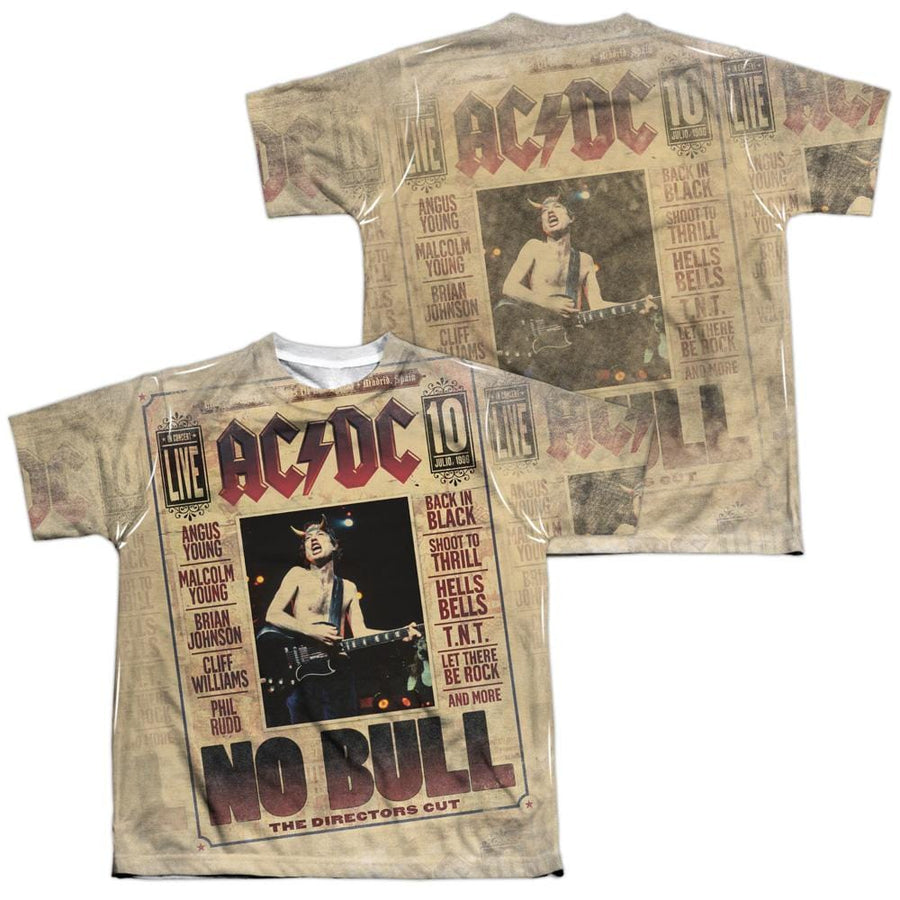AC/DC No Bull Youth All-Over Print T-Shirt (Ages 8-12)