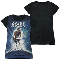 Acdc - Lightning Junior All Over Print 100% Poly T-Shirt