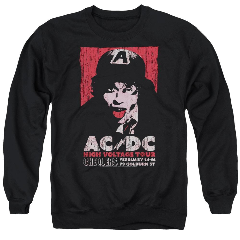 Acdc High Voltage Live 1975 Adult Crewneck Sweatshirt
