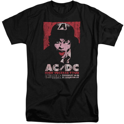 AC/DC High Voltage Live 1975 Men's Tall Fit T-Shirt