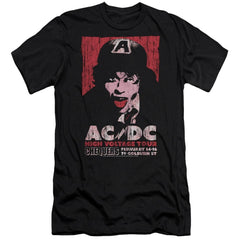 Acdc High Voltage Live 1975 Premium Adult Slim Fit T-Shirt