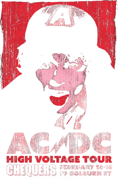 AC/DC High Voltage Live 1975 Men's Heather T-Shirt