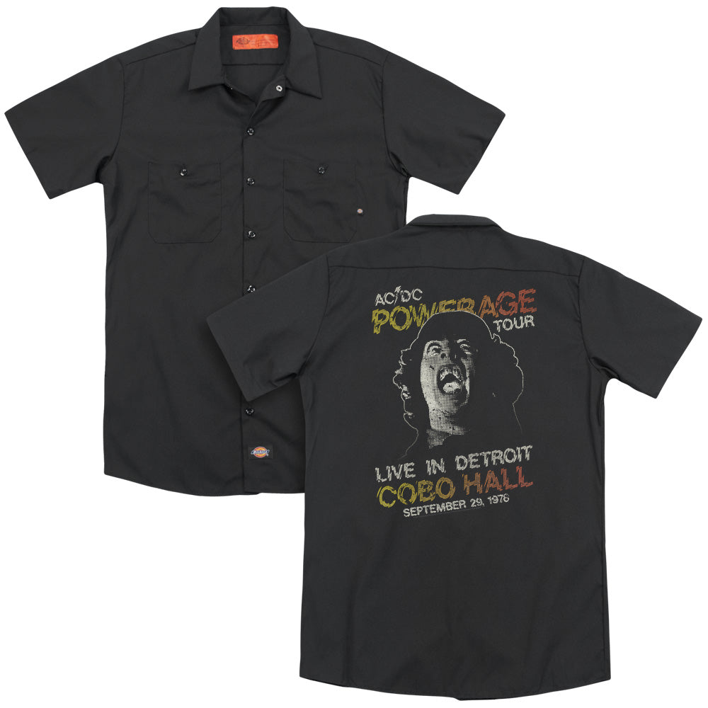 Acdc Powerage Tour Adult Work Shirt