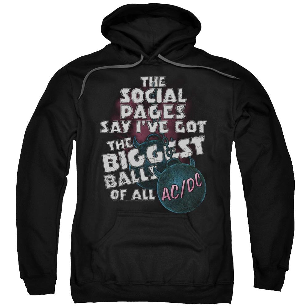 Acdc Big Balls Adult Pull-Over Hoodie