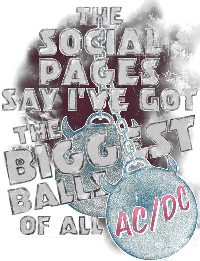 AC/DC Big Balls Kid's T-Shirt (Ages 4-7)