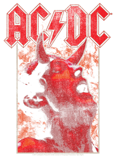 AC/DC Horns Men's Heather T-Shirt