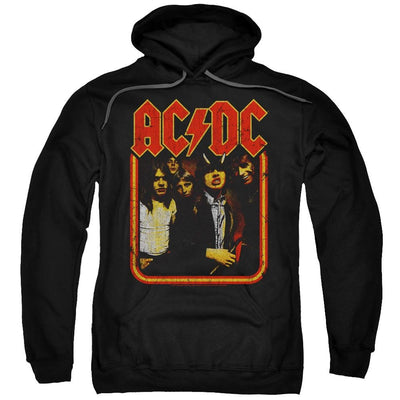AC/DC Group Distressed Pullover Hoodie
