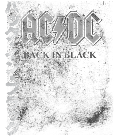 AC/DC Back In The Day Kanji Juniors V-Neck T-Shirt