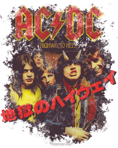 AC/DC Highway Kanji Youth T-Shirt (Ages 8-12)