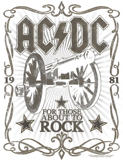 AC/DC Rock Label Men's Heather T-Shirt
