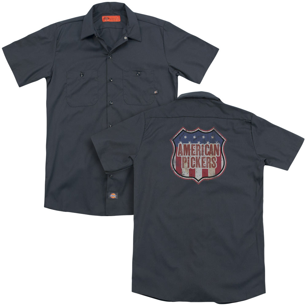 American Pickers Vintage Sign Adult Work Shirt