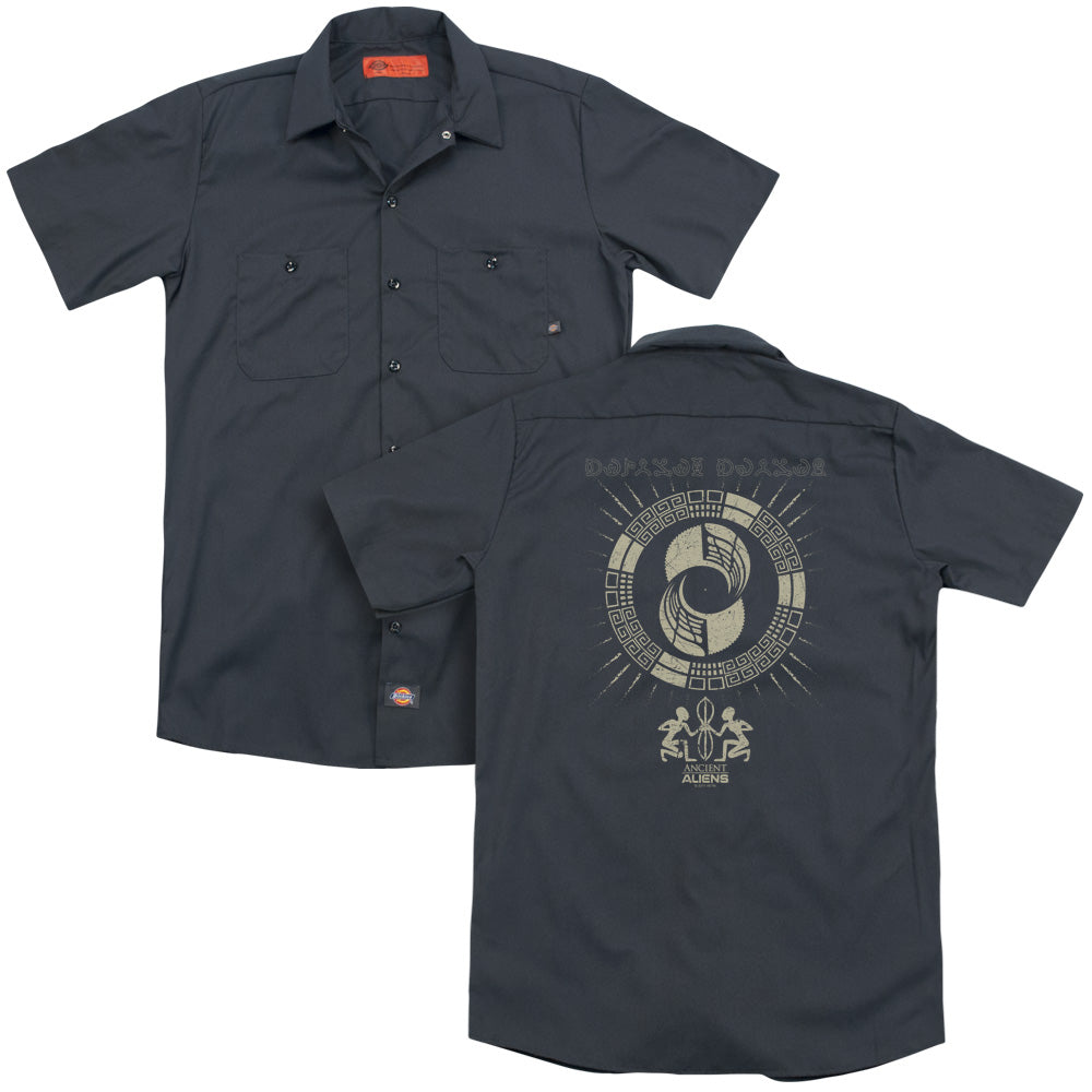 Ancient Aliens Glyphs Adult Work Shirt