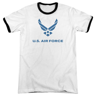 Air Force Distressed Logo Men's Ringer T-Shirt