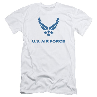 Air Force Distressed Logo Men's Slim Fit T-Shirt