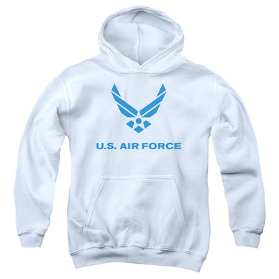Air Force Distressed Logo Youth Hoodie (Ages 8-12)