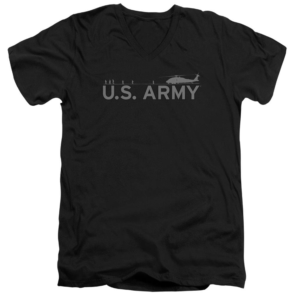 Army - Helicopter Adult V-Neck T-Shirt