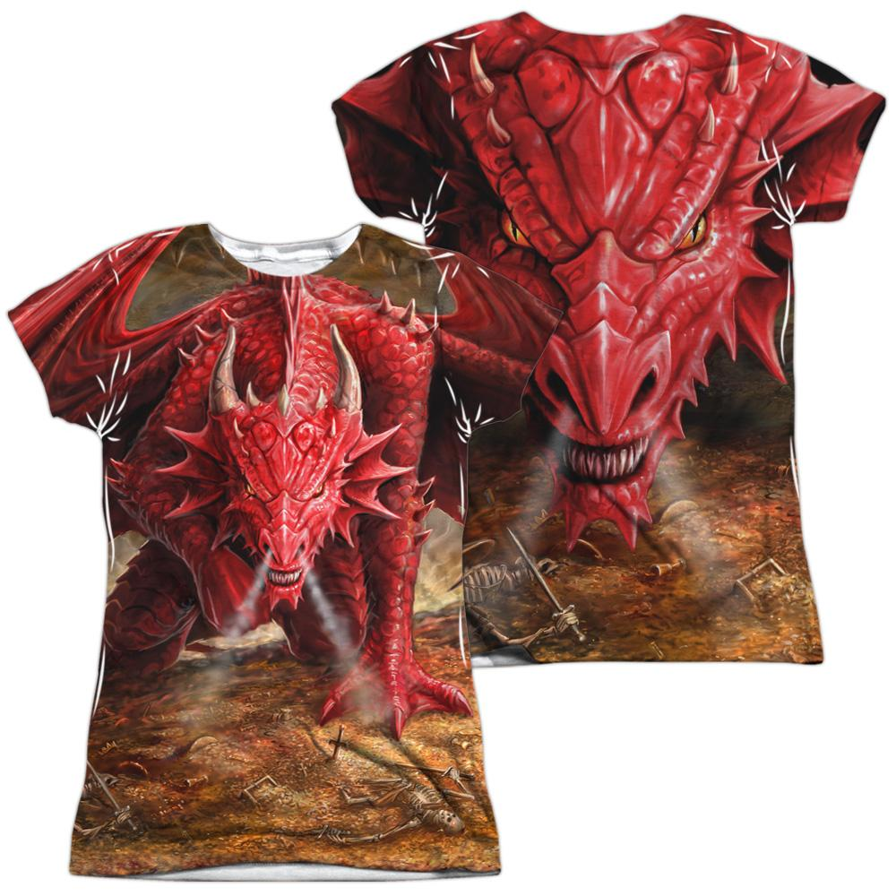 Anne Stokes Dragon's Lair Junior All Over Print 100% Poly T-Shirt