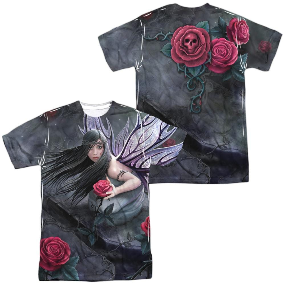 Anne Stokes Rose Fairy Adult All Over Print 100% Poly T-Shirt