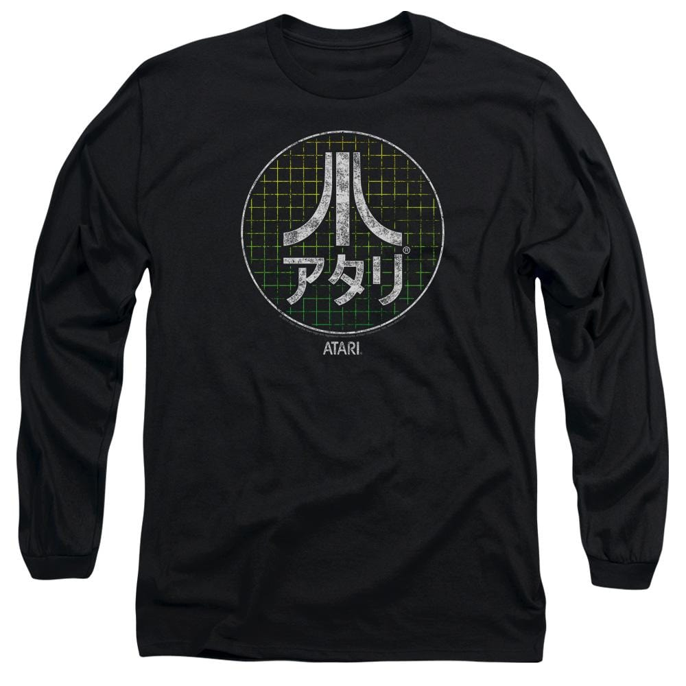 Atari - Japanese Grid Adult Long Sleeve T-Shirt