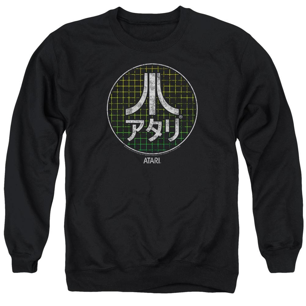 Atari - Japanese Grid Adult Crewneck Sweatshirt