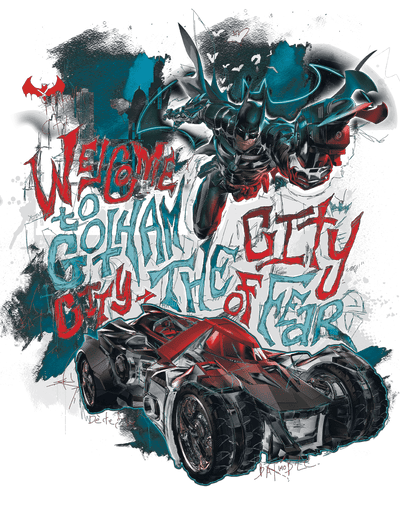 Batman - Arkham City Of Fear Men's Tank