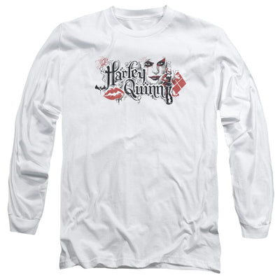 Batman - Arkham Lips Men's Long Sleeve T-Shirt