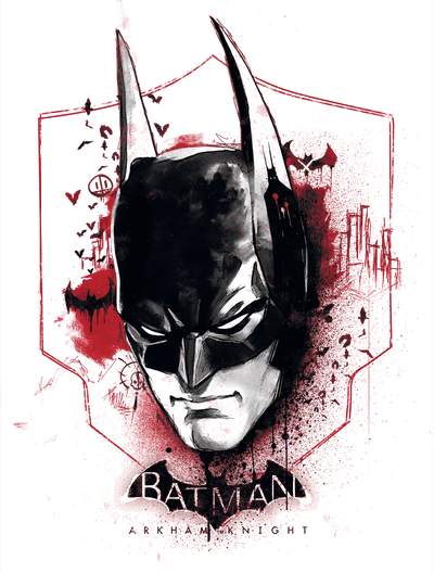 Batman - Arkham Ak Head Juniors T-Shirt