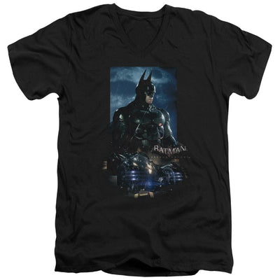 Batman - Arkham Batmobile Men's V-Neck T-Shirt