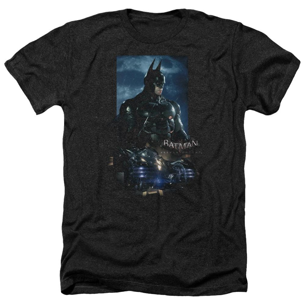 Batman Arkham Knight - Batmobile Adult Regular Fit Heather T-Shirt