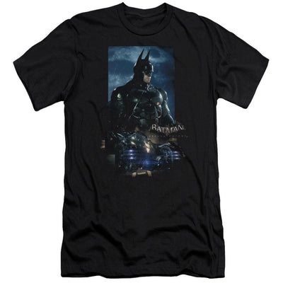 Batman - Arkham Batmobile Men's Premium Slim Fit T-Shirt
