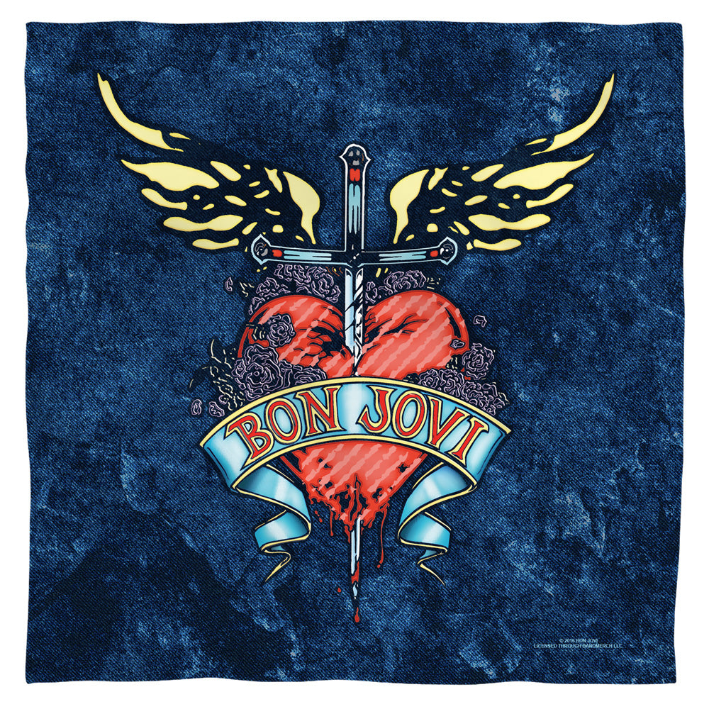 Bon Jovi - Weathered Denim Bandana