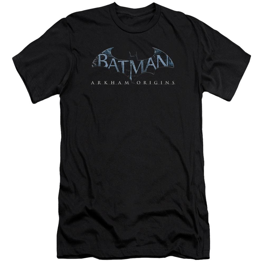 Batman Arkham Origins Logo Premium Adult Slim Fit T-Shirt