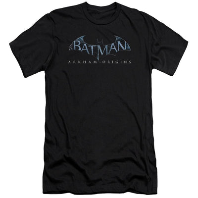 Batman - Arkham Logo Men's Slim Fit T-Shirt